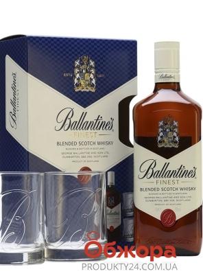 Виски Балантайнс 0,7л. 40% + 2 бок. Набор – ИМ «Обжора»