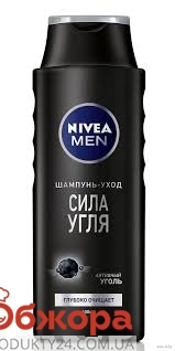 Шампунь NIVEA HAIR CARE Сила угля , муж, 400 мл – ИМ «Обжора»