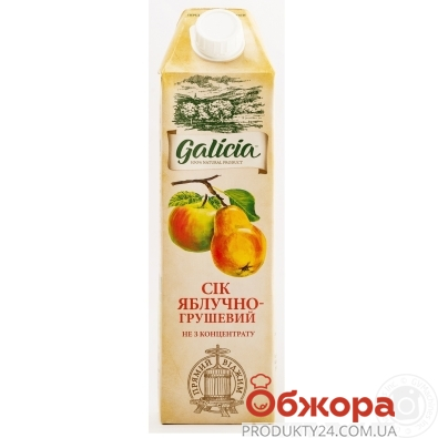 Сік Galicia 1,0л яблучно-грушевий ТП – ІМ «Обжора»