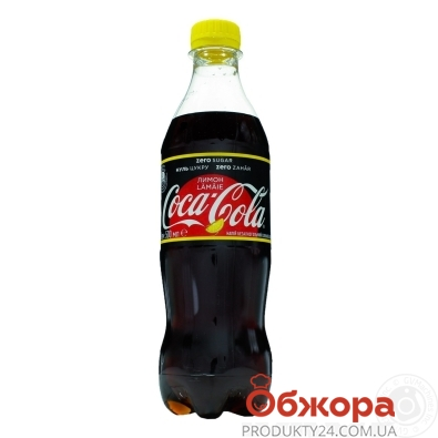 Вода Кока-Кола 0.5л Zero Лимон Новинка – ИМ «Обжора»