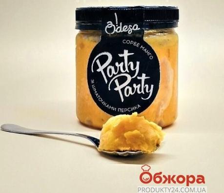Мороженое О!деса 400 г Сорбе манго с кусочками персика – ИМ «Обжора»
