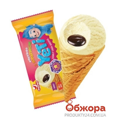 Мороженое Ласунка 80г Yeti банан-шоколад рожок НОВИНКА – ИМ «Обжора»
