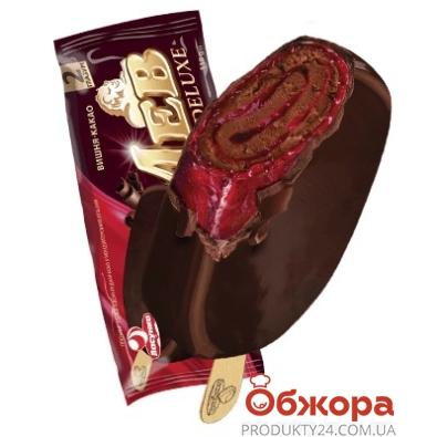 Мороженое Ласунка 85г Лев Deluxе с вишневым джемом НОВИНКА – ИМ «Обжора»