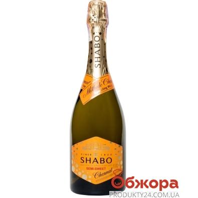 Вино игристое Шабо Мускатне Charmat 0,75л белое полусладкое – ИМ «Обжора»