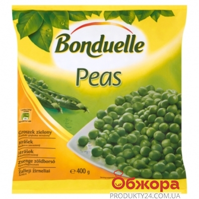 Зам, Овочі Бондюель 400г Горох зелений – ІМ «Обжора»