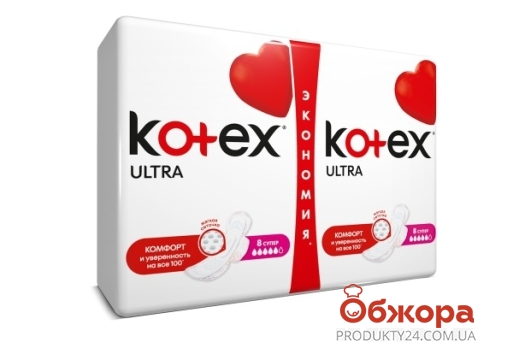 Прокладки, KOTEX ultra dry super duo,16 шт – ИМ «Обжора»