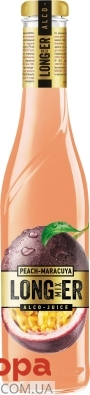 """Напиток слабоалкогольный """"Лонгер"""", """"Персик-маракуйя"""", 0.33 л – ІМ «Обжора»"""