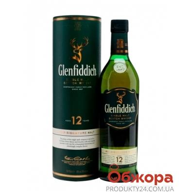 Виски Гленфиддиш 12 лет, 0.5 л, тубус – ИМ «Обжора»