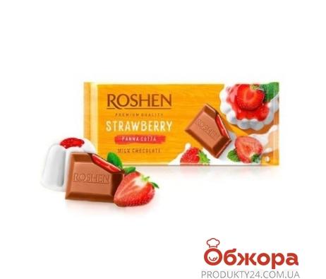 "Шоколад ""Клубничная панакота"", ""Рошен"", 90 г – ИМ «Обжора»"