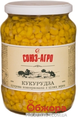 "Консервированная кукуруза ""Союз-Агро"", 675 г – ИМ «Обжора»"