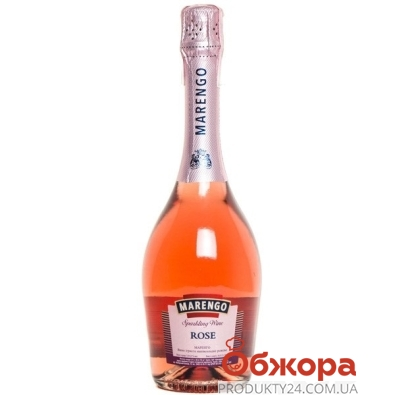 Вино игристое Маренго розовое брют, 0.75 л – ИМ «Обжора»