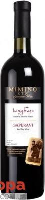 Вино Мимино Саперави 0,75л сухое красное Грузия – ИМ «Обжора»