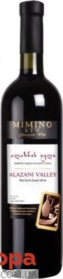 Вино Мимино Алазанская долина 0,75 л красное полусладкое Грузия – ИМ «Обжора»