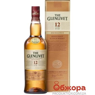 Виски Glenlivet Excellence 12 лет 0,7 л 40% – ИМ «Обжора»