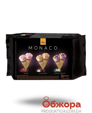 Мороженое Три Медведя 360 г Monaco Набор Рожков мини 6 шт – ИМ «Обжора»