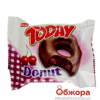 Бисквит ELVAN Today Donut Cherry 50 г – ИМ «Обжора»