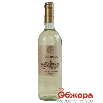 Вино Badissa Пино Гриджио белое сухое Италия 0,75 л – ІМ «Обжора»