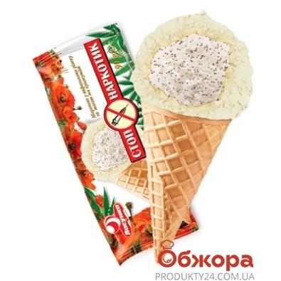 Мороженое Ласунка Стоп-наркотик рожок  80 г – ИМ «Обжора»