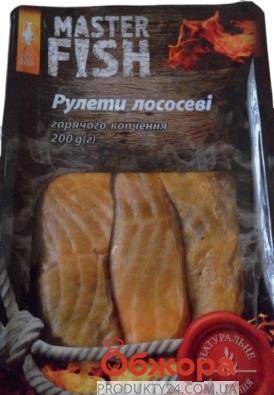 Рулет лососевый горячего копчения Master Fish 200 г – ИМ «Обжора»