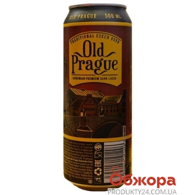 Пиво Old Prague Bohemian Dark Lager 0.5 л – ИМ «Обжора»