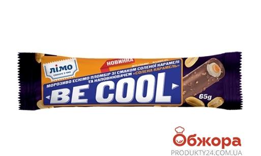 Пломбир глазированный BE COOL соленая карамель, арахис, Лимо 65 г – ИМ «Обжора»
