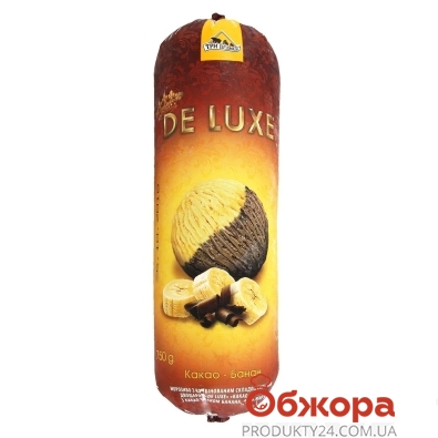 Мороженое De Luxe двухслойное какао-банан Три Медведя 750 г – ИМ «Обжора»