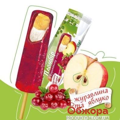 Пломбир во фруктовом соке клюквы и яблок Белая Бяроза 95 г – ИМ «Обжора»