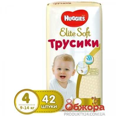 Підгузки HUGGIES Pants 4 Mega Elite Soft 42x2 – ІМ «Обжора»