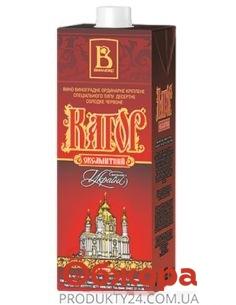 Вино Винлюкс Кагор Бархатный крепленое десертное красное 1 л – ИМ «Обжора»