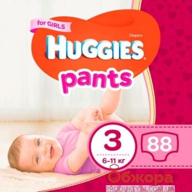 Підгузки HUGGIES PANT трусики-Підгузки jumbo 3 д/дів – ІМ «Обжора»