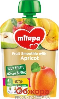 Пюре Milupa 80г яблуко груша банан абрикос пауч з 6 міс – ІМ «Обжора»
