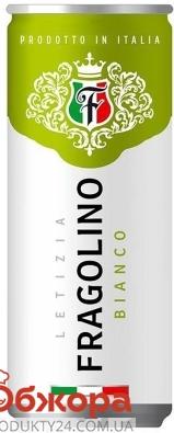 Напій сл/алк Фраголіно Letizia  0,33л ж/б н/сол. Bianco – ІМ «Обжора»