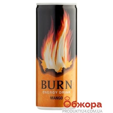 Напиток энергетический Манго Burn 0,25 л – ИМ «Обжора»