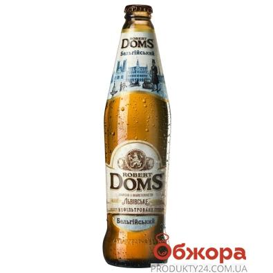 Пиво Львовское Роберт Домс Бельгийский 0,5 л – ИМ «Обжора»