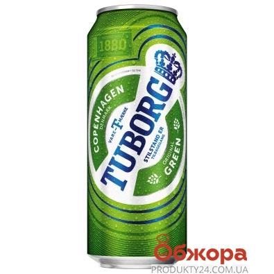 Пиво Туборг 0,5л ж/б Грін. – ІМ «Обжора»