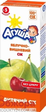 Сік Агуша 200г яблуко-вишня +йод – ІМ «Обжора»