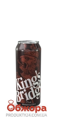 Напиток сл/алк Кингз-Бридж 0,45 л Бренди-Кола – ИМ «Обжора»