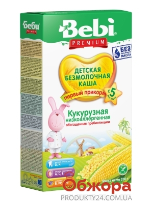 Каша Bebi Premium 200г Кукурудзяна низкоаллергенна б/м з 5міс – ІМ «Обжора»
