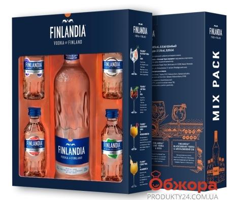 Набор водка Финляндия (Finlandia) 0,5 л + 4 вкуса по 0,05 л – ИМ «Обжора»