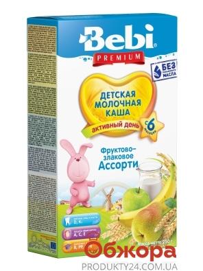 Каша Bebi Premium 250г мол. фрукт. злакове ассорті с 6 міс – ІМ «Обжора»
