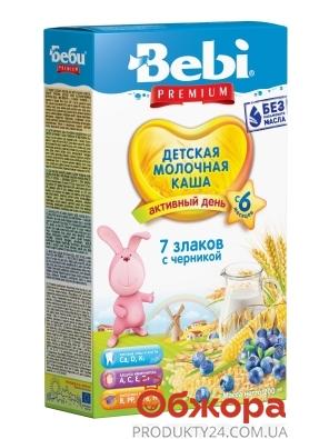 Каша Bebi Premium 200г мол. 7 злаків с черницею з 6 міс – ІМ «Обжора»