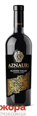 Вино Азнаури (Aznauri) Алазанская долина красное п/сл 0,75 л – ИМ «Обжора»