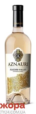 Вино Азнаурі Алазанська долина 0,75л н/сол біле – ІМ «Обжора»