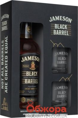 Виски Jameson Black Barrel 0,7 л + 2 бокала – ИМ «Обжора»